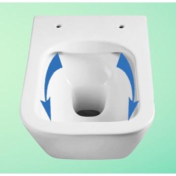 Унитаз с сиденьем Slim Soft-Close DUSEL IVIA DWHT10210330R-1