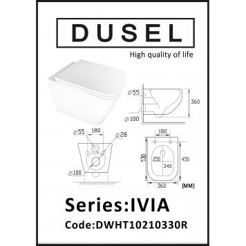 Унитаз с сиденьем Slim Soft-Close DUSEL IVIA DWHT10210330R-3