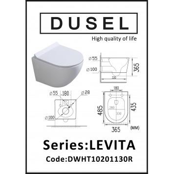 Унитаз с сиденьем Slim Soft-Close DUSEL LEVITA DWHT10201130R-3