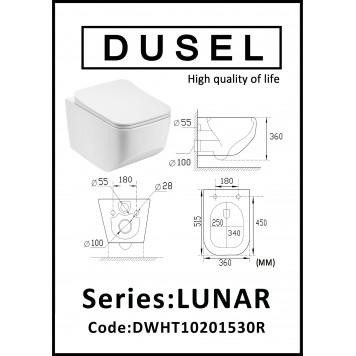 Унитаз с сиденьем Slim Soft-Close DUSEL LUNAR DWHT10201530R-4