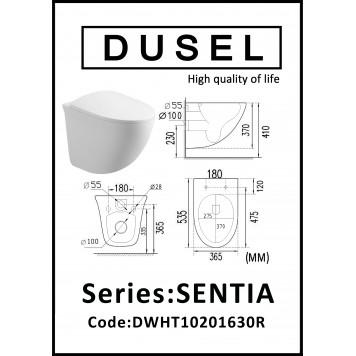 Унитаз с сиденьем Soft-Close DUSEL SENTIA DWHT10201630R-2