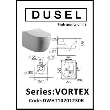Унитаз с сиденьем Slim Soft-Close DUSEL VORTEX DWHT10201230R-4