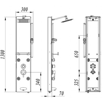 Гидромассажная панель Dusel DU616351R-4