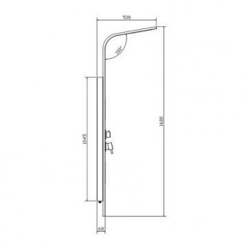 Гидромассажная панель Dusel DU2014А-00-3