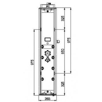 Гидромассажная панель Dusel DU787392R-5
