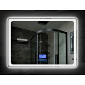 Зеркало DUSEL LED DE-M3051 100х75 с часами и Bluetooth