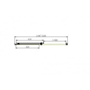 Душевая дверь Dusel FА512, 120 см, стекло прозрачное-2