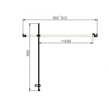 Душевая дверь в нишу Dusel FА-516, 90 см, стекло прозрачное-4