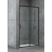 Душевая дверь в нишу Dusel EF185B Black Matt, 120 см, стекло прозрачное