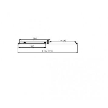 Душевая дверь в нишу Dusel EF185B Black Matt, 120 см, стекло прозрачное-1