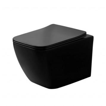 Унитаз с сиденьем Slim Soft-Close DUSEL CUBIS Black Matt DWHT10201030RВ