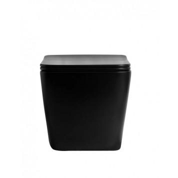 Унитаз с сиденьем Slim Soft-Close DUSEL CUBIS Black Matt DWHT10201030RВ-1
