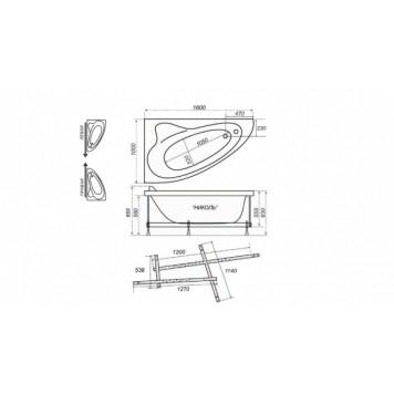 Акриловая ванна Triton Николь (правая) 160x100-3