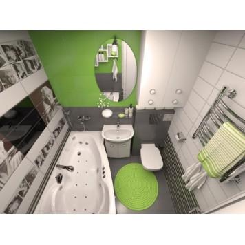 Акриловая ванна Triton Бриз (левая) 150x96-1