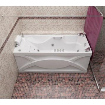 Карниз хромированный , повторяющий форму ванны-4