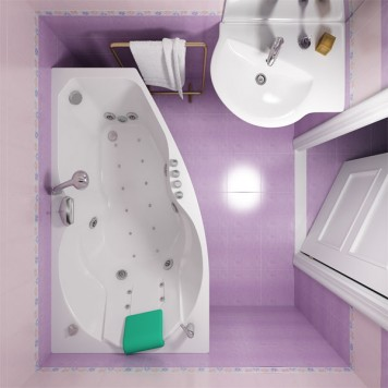 Акриловая ванна Triton Бриз (правая) 150x96-2