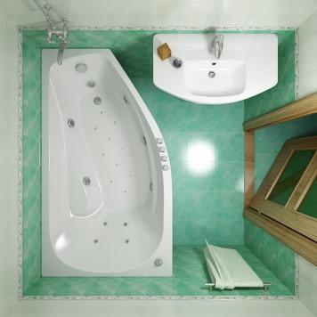 Акриловая ванна Triton Скарлет (правая) 167x96-4