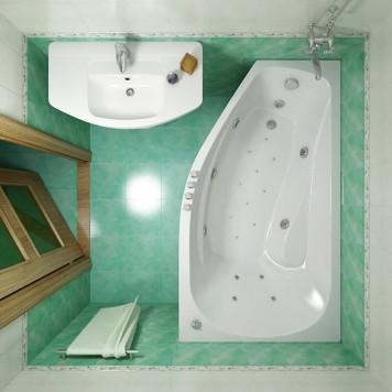Акриловая ванна Triton Скарлет (левая) 167x96-4