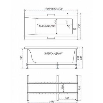 Акриловая ванна Triton Александрия 150x75-6