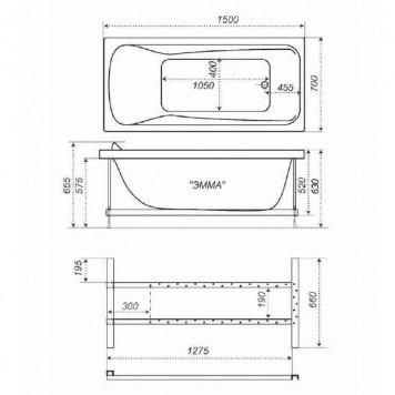 Акриловая ванна Triton Эмма 150x70-1