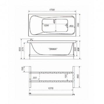 Акриловая ванна Triton Эмма 170x70-2