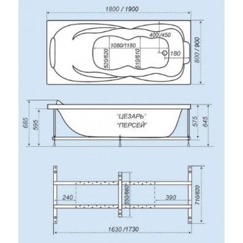 Акриловая ванна Triton Персей 190x90-3