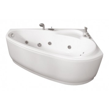 Акриловая ванна Triton Пеарл-шелл (левая) 160x104-1
