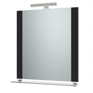 Зеркало 'Ника-75' (черное) с подсветкой